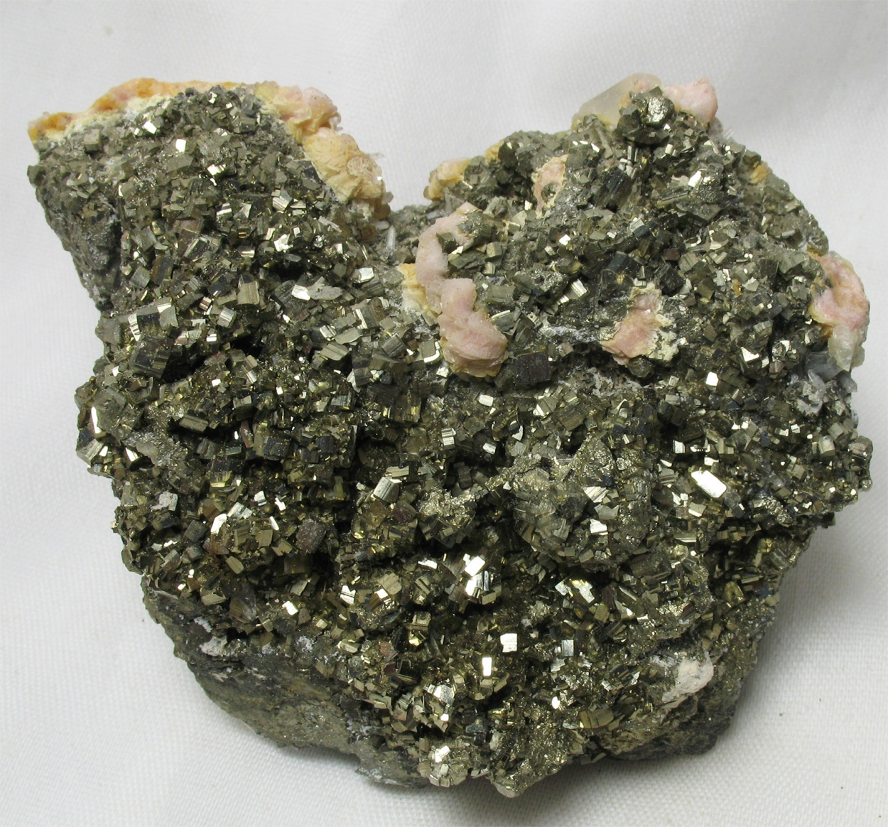 Rhodochrosite & Pyrite