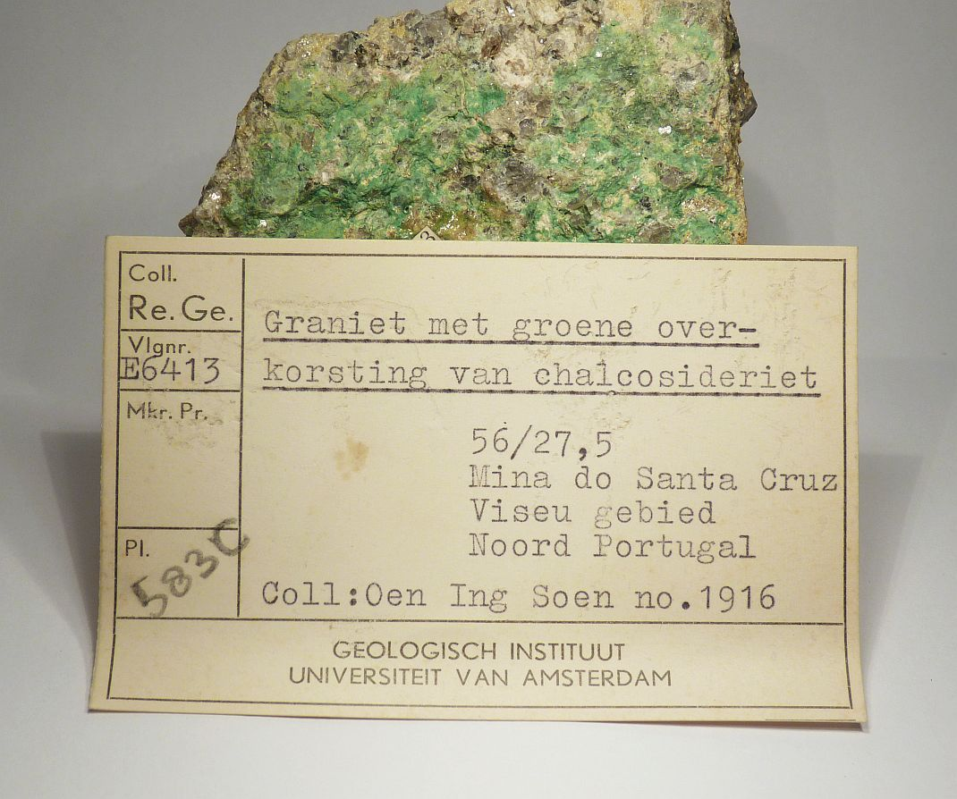 Chalcosiderite On Granite