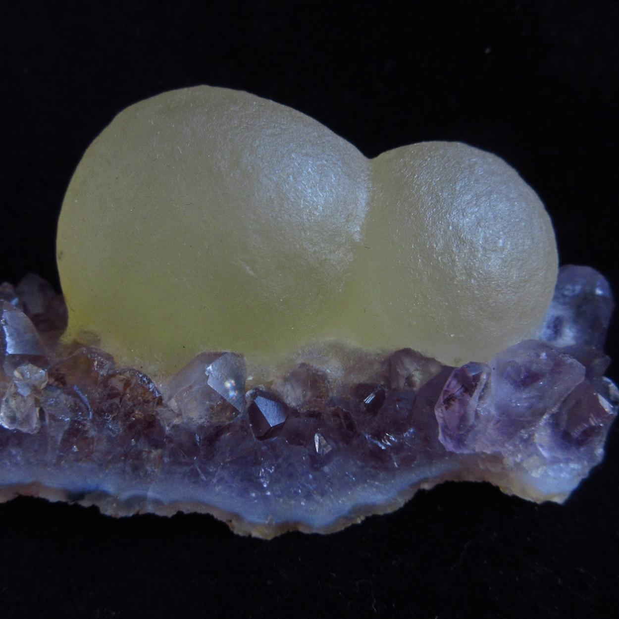 Fluorite On Amethyst
