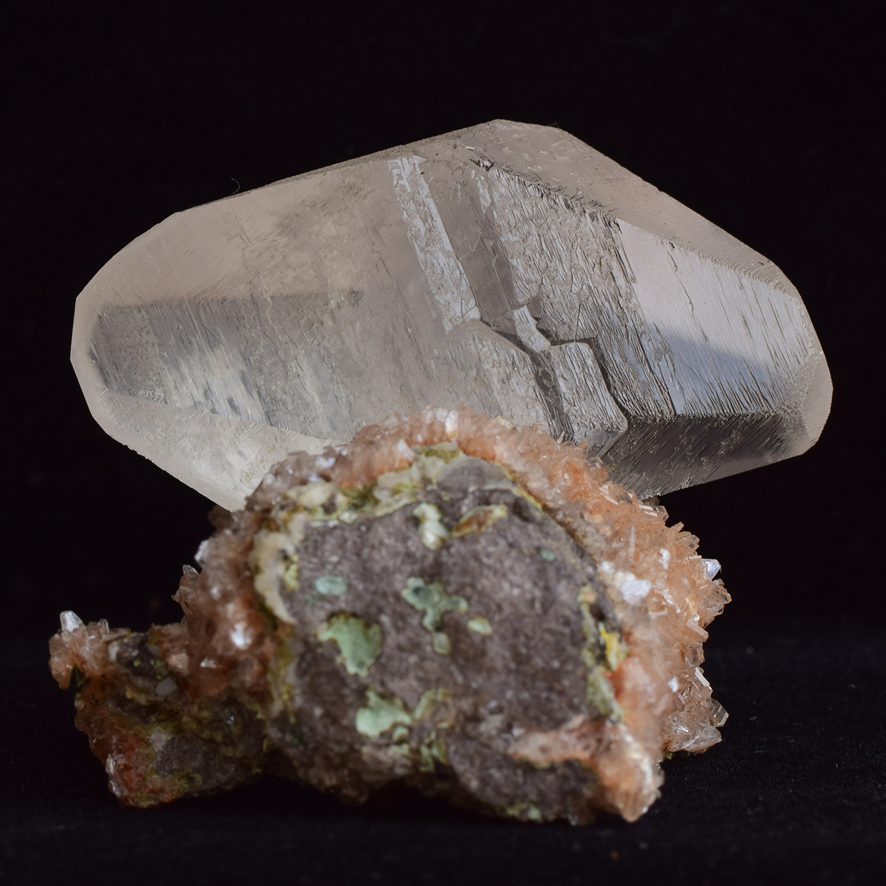 Calcite On Heulandite