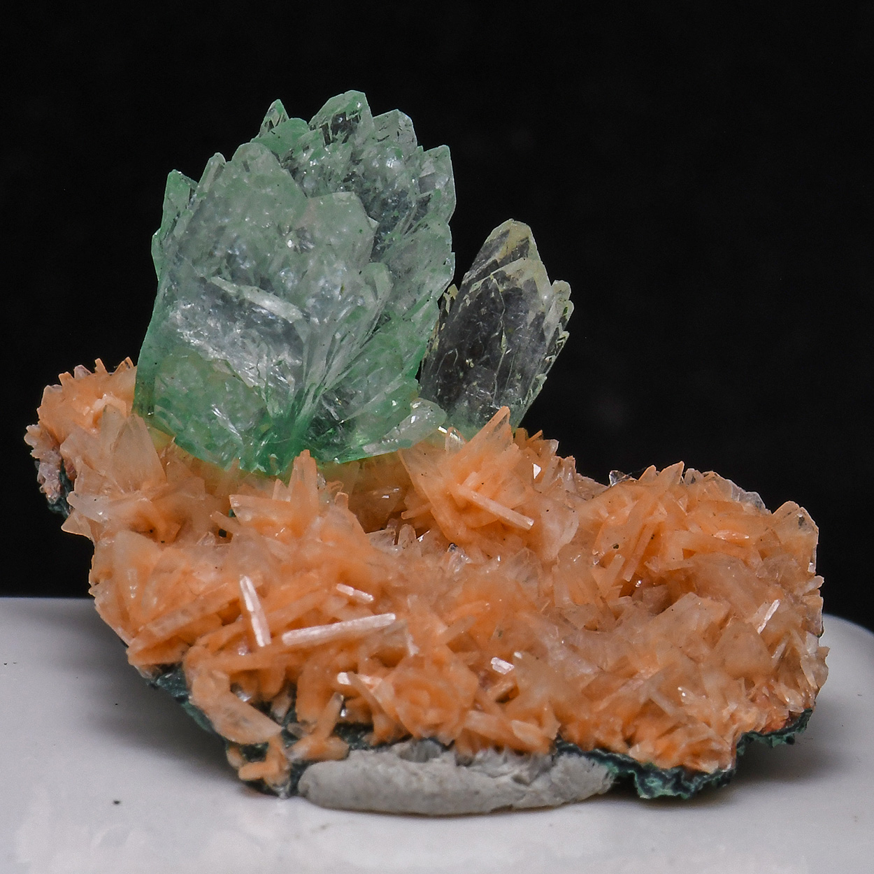 Apophyllite On Heulandite