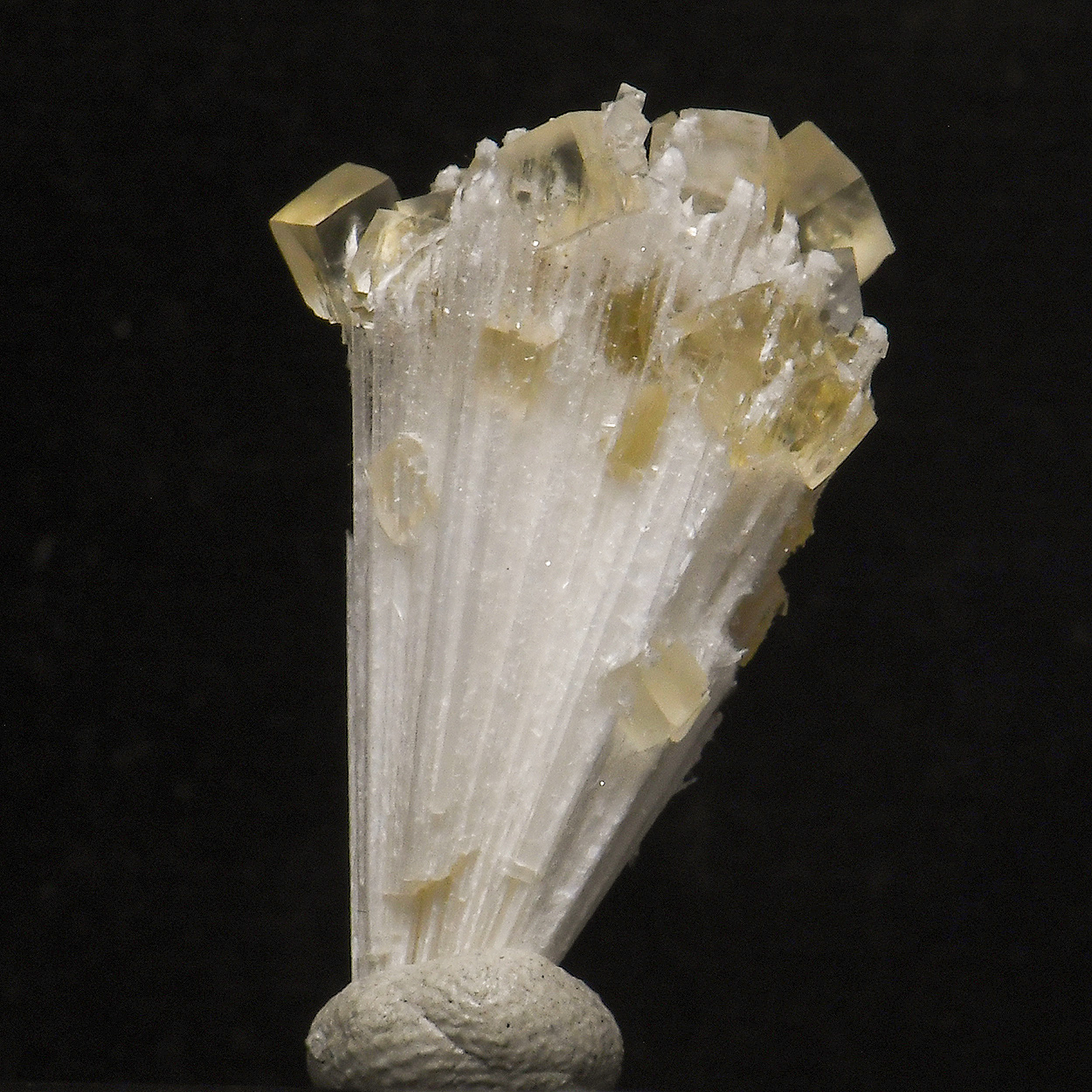Calcite On Mesolite
