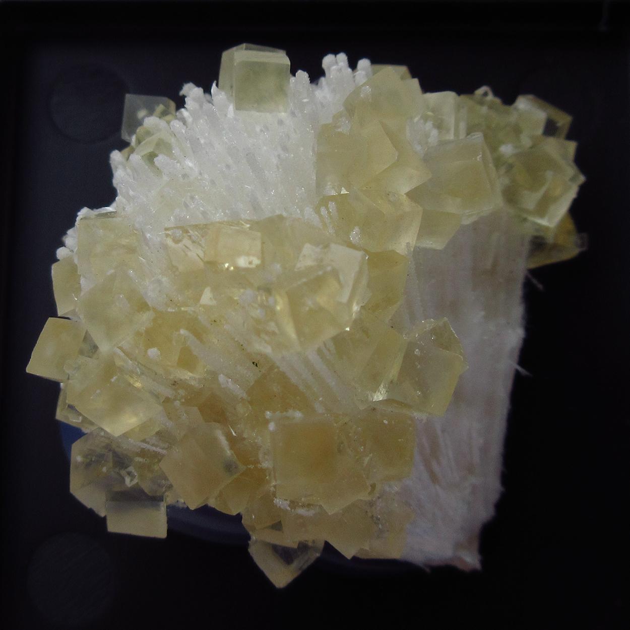 Calcite On Quartz With Mesolite
