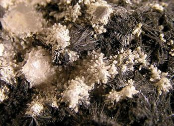 Stibnite Jamesonite & Calcite