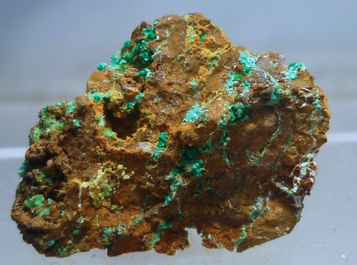 Zálesíite Native Copper & Malachite