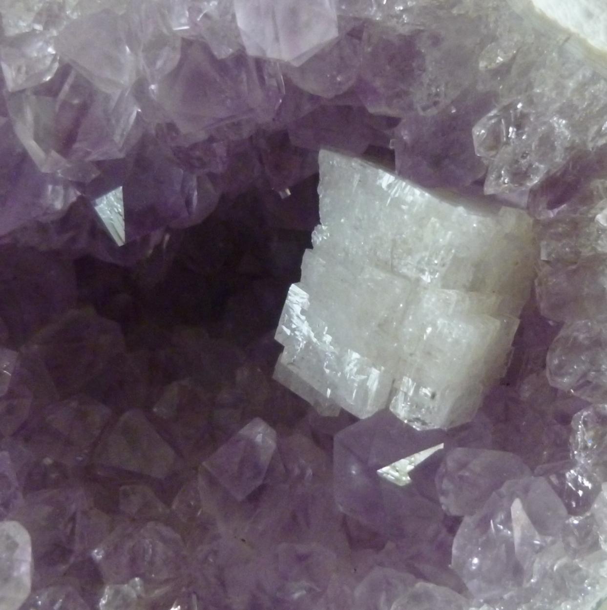 Chabazite & Quartz Var Amethyst