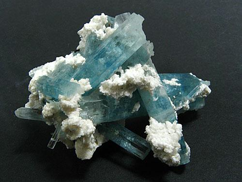 K Feldspar & Aquamarine