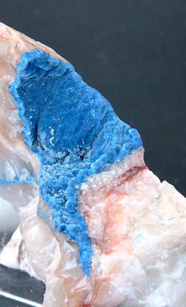Plancheite & Shattuckite On Quartz