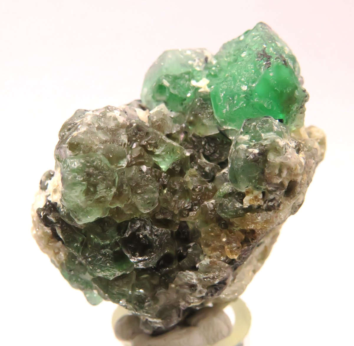 Fluorite On Orthoclase