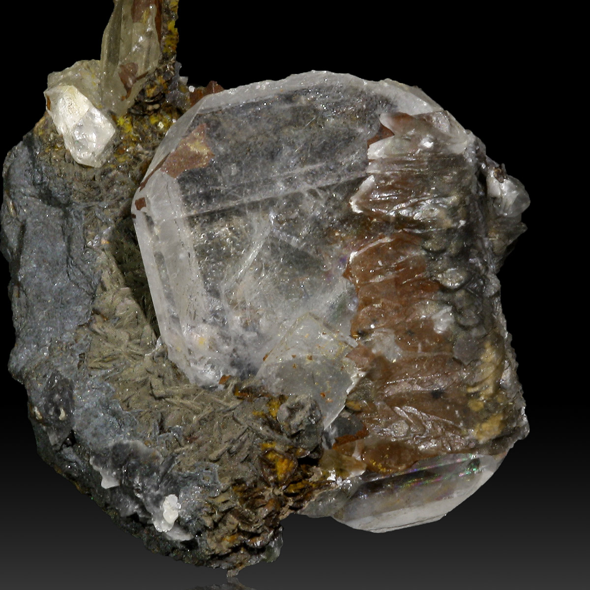 Baryte On Goethite