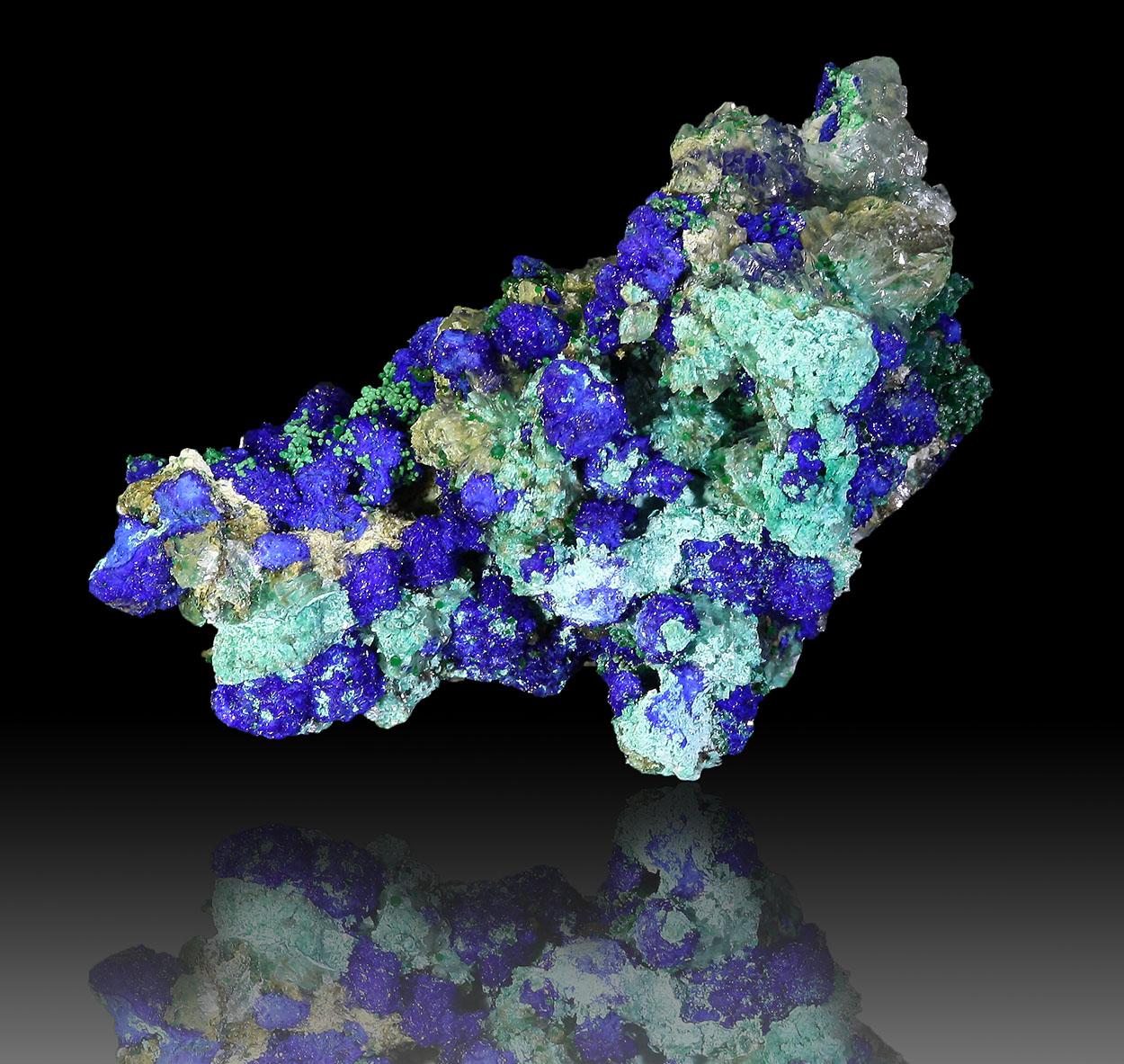 Azurite Conichalcite & Calcite