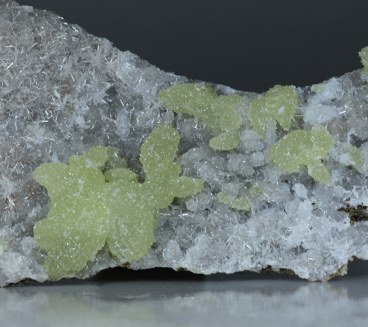 Adamite On Calcite