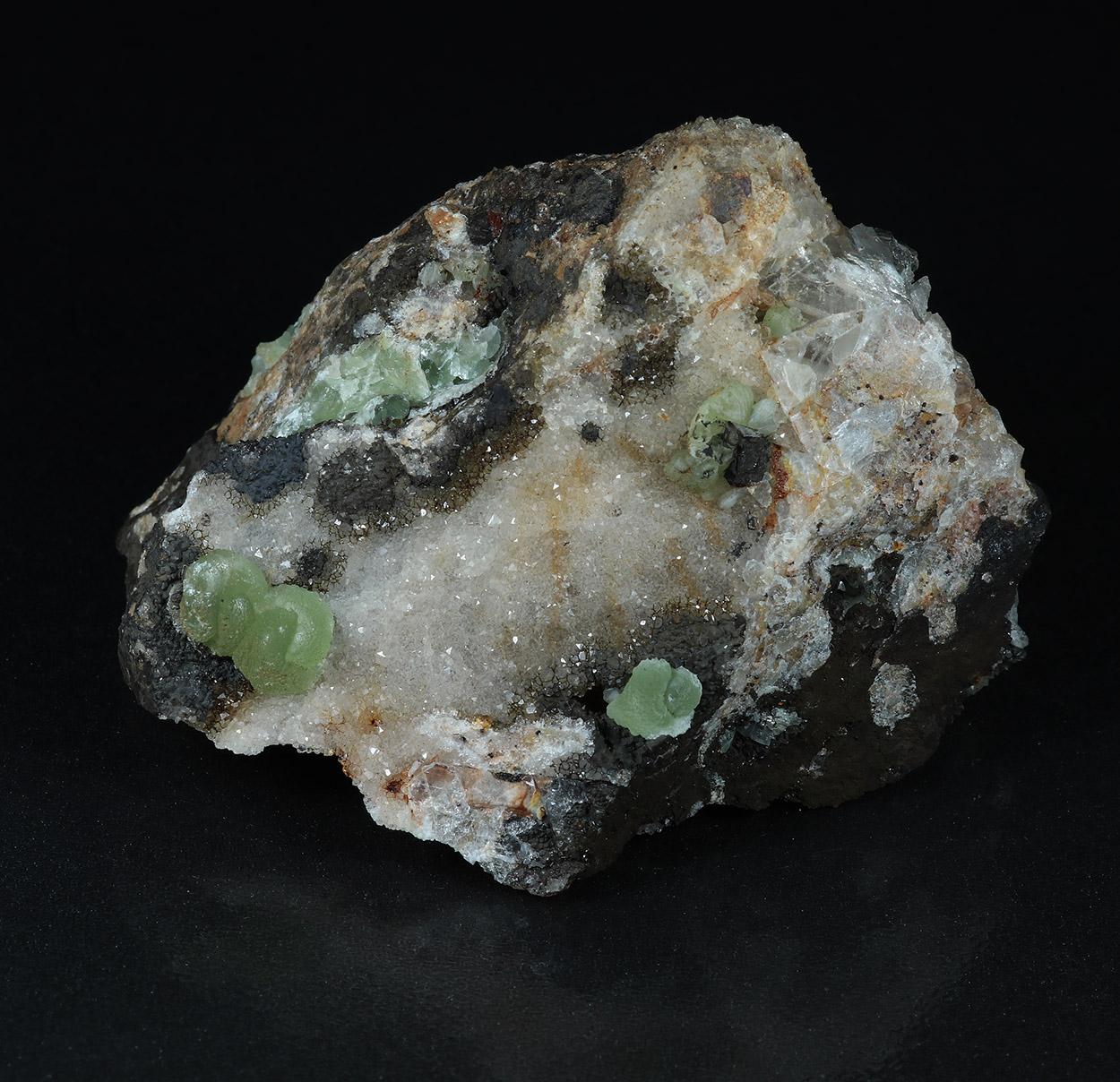 Cuprian Smithsonite & Quartz