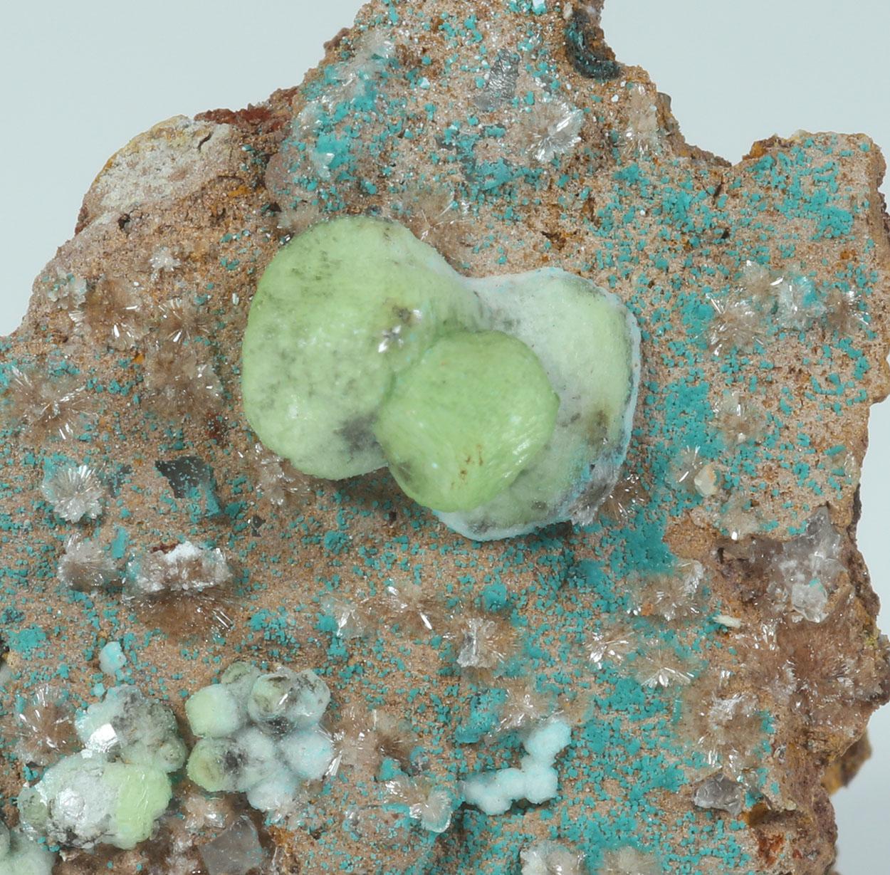 Smithsonite Rosasite & Hemimorphite