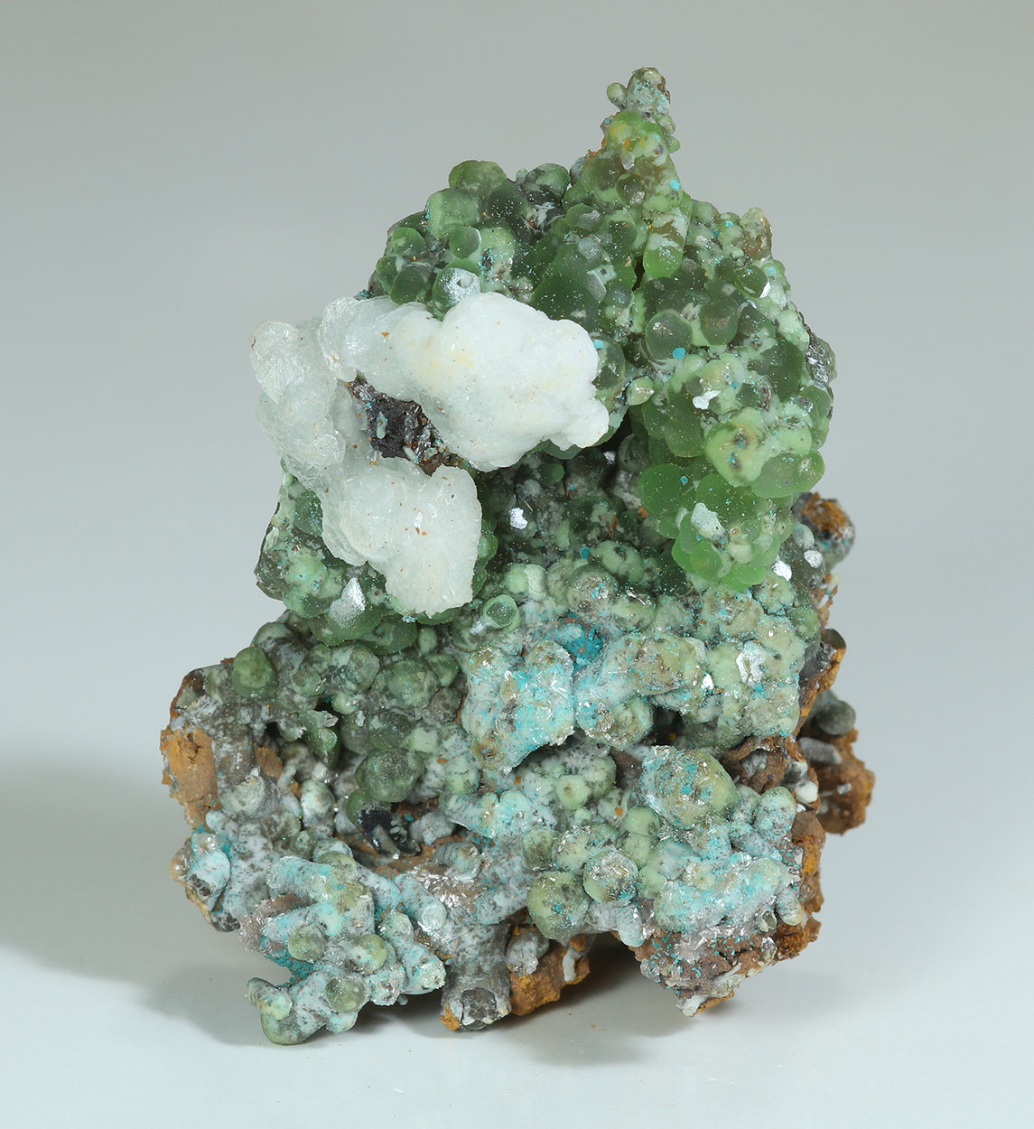 Smithsonite Aurichalcite Hemimorphite & Aragonite