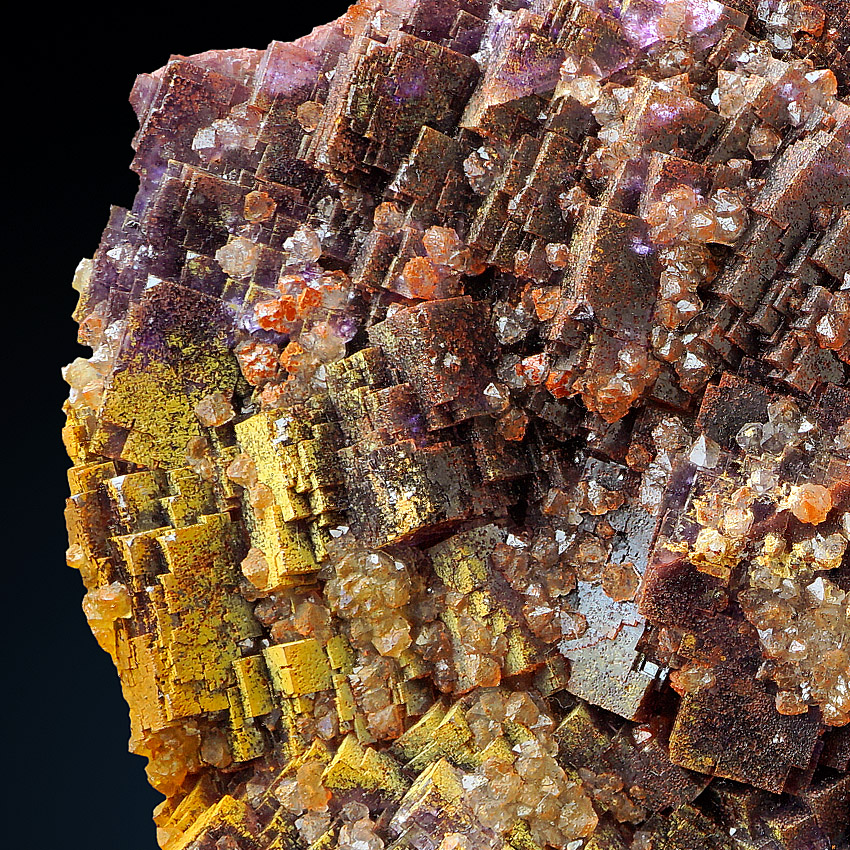 Fluorite With Quartz Var Eisenkiesel