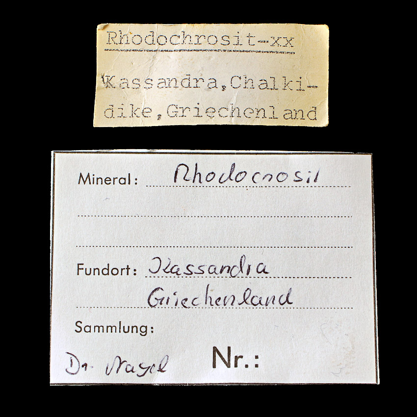 Rhodochrosite With Chalcopyrite