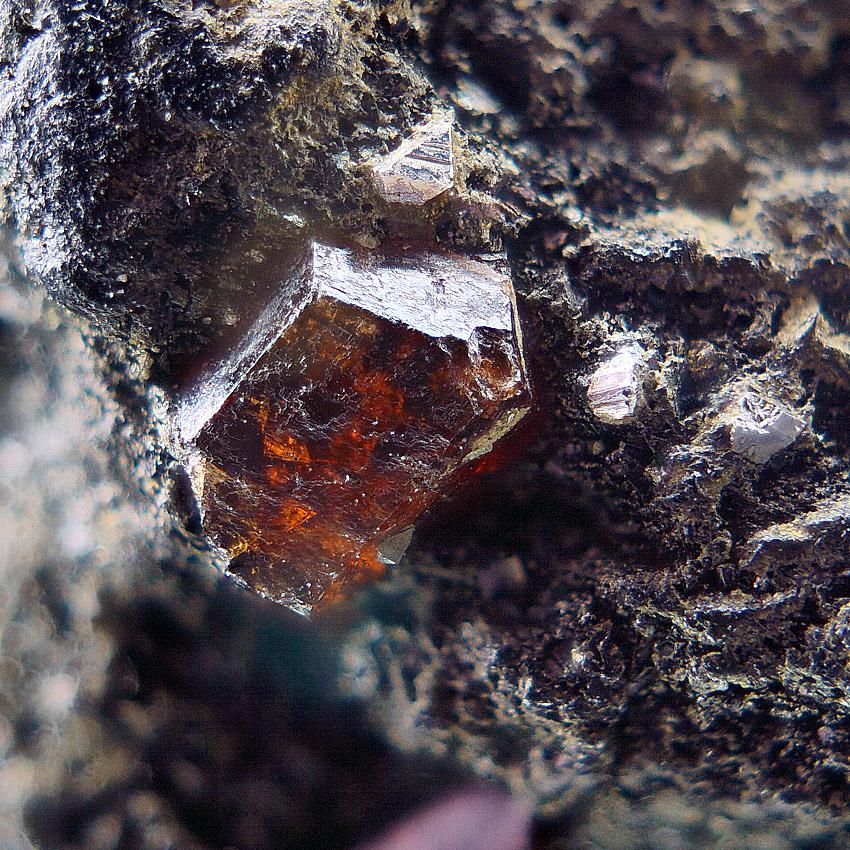 Garnet Var Almandine With Pyrite