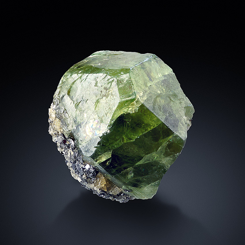 Grossular Var Tsavorite With Graphite