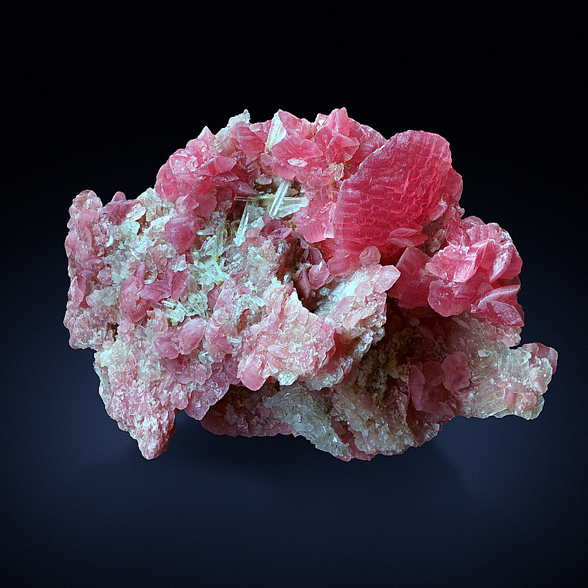 Rhodochrosite With Rock Crystal