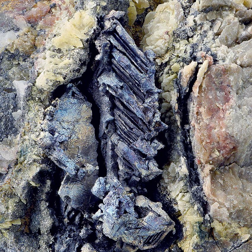 Native Bismuth On Dolomite
