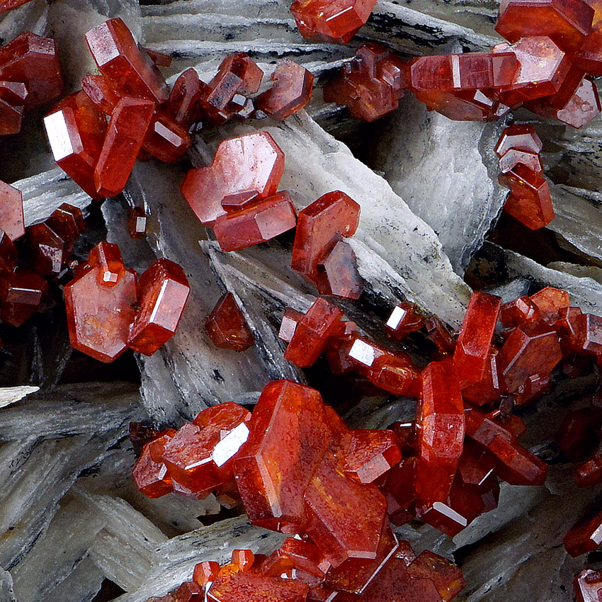 Vanadinite On Baryte