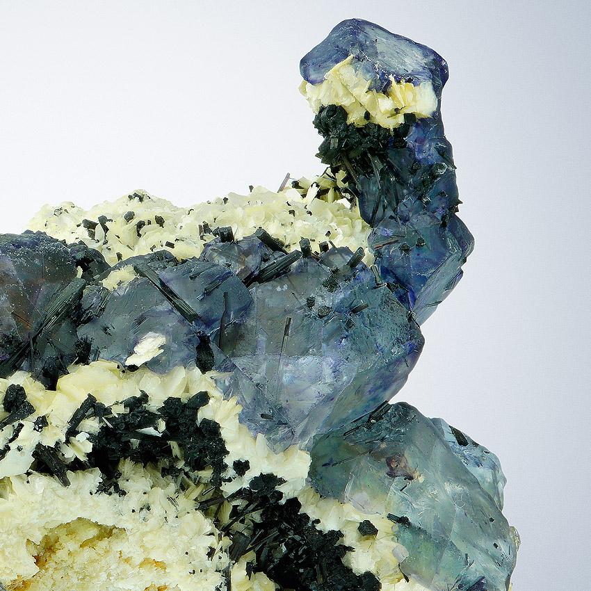 Fluorite On Muscovite