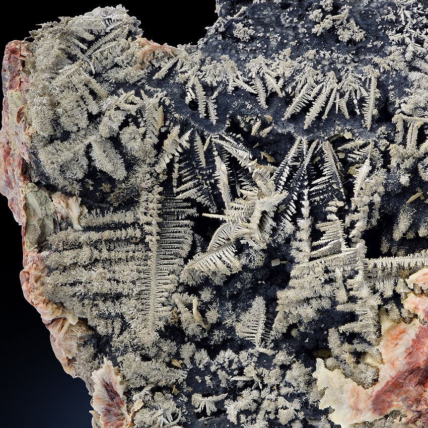 Native Silver With Baryte