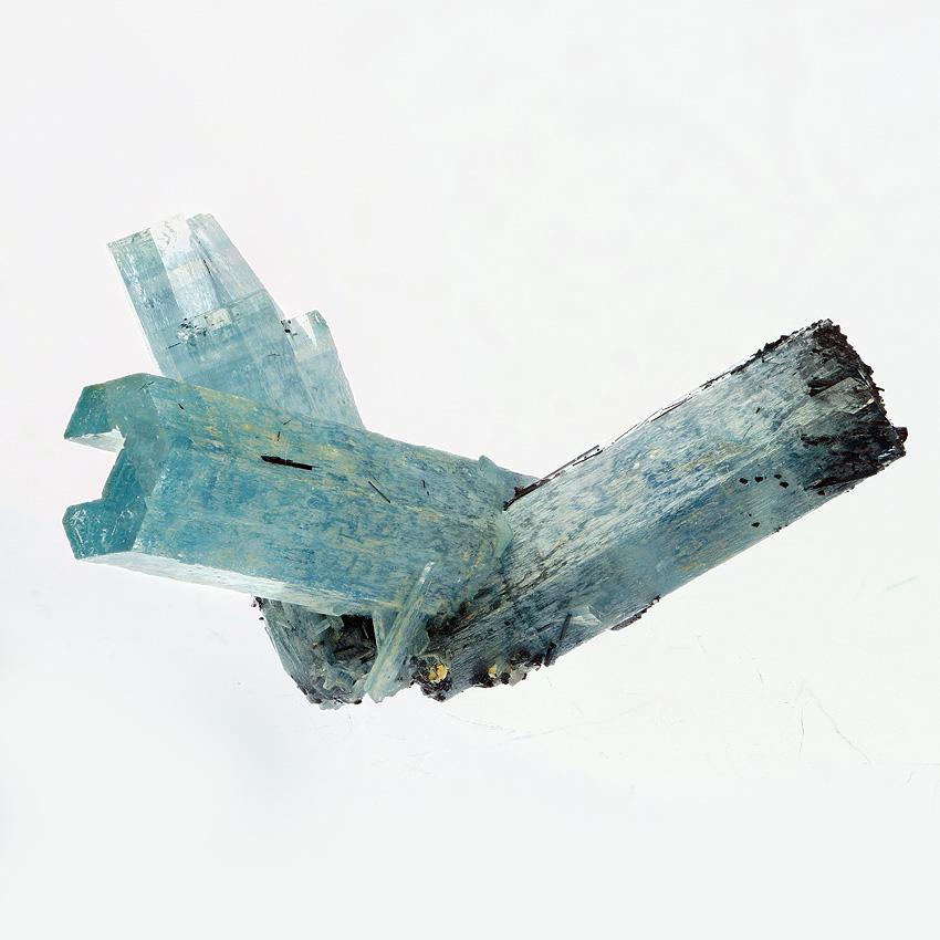 Aquamarine With Schorl