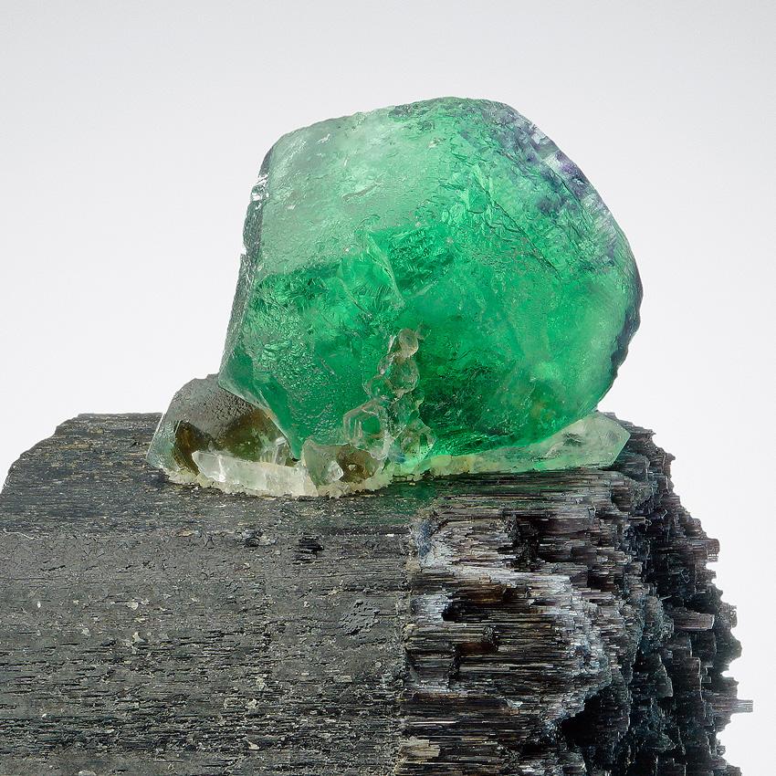Fluorite On Schorl