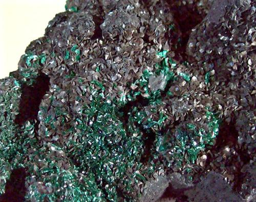 Malachite With Siderite