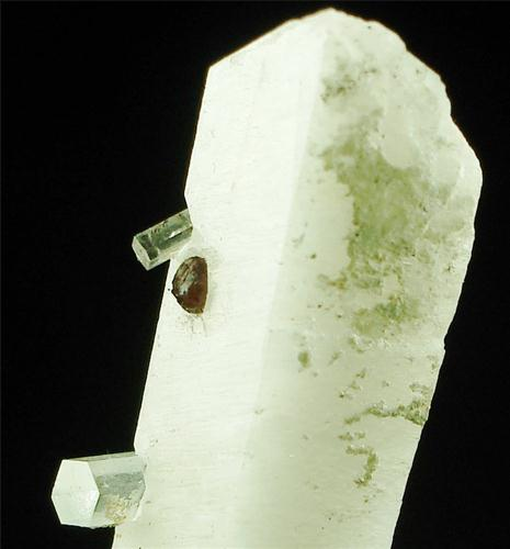 Microcline With Spessartine & Aquamarine