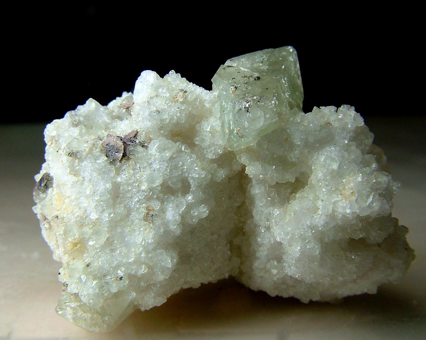 Väyrynenite With Hydroxylherderite & Microcline