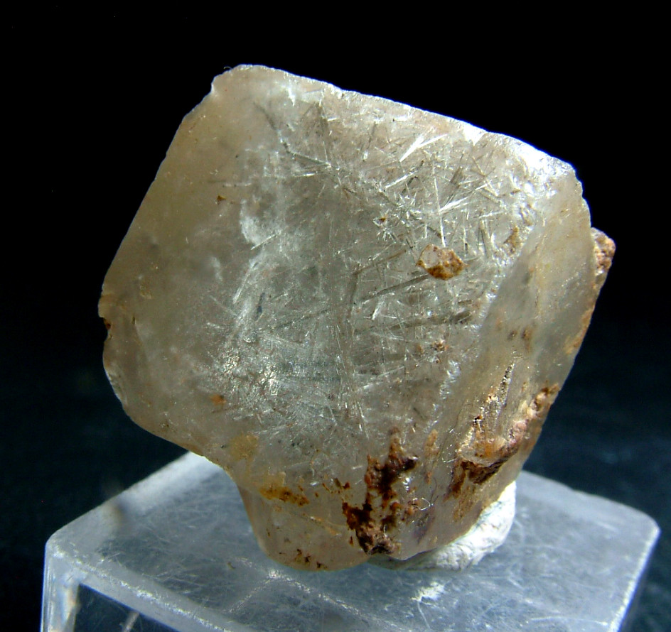 Fluorite With Byssolite Inclusions