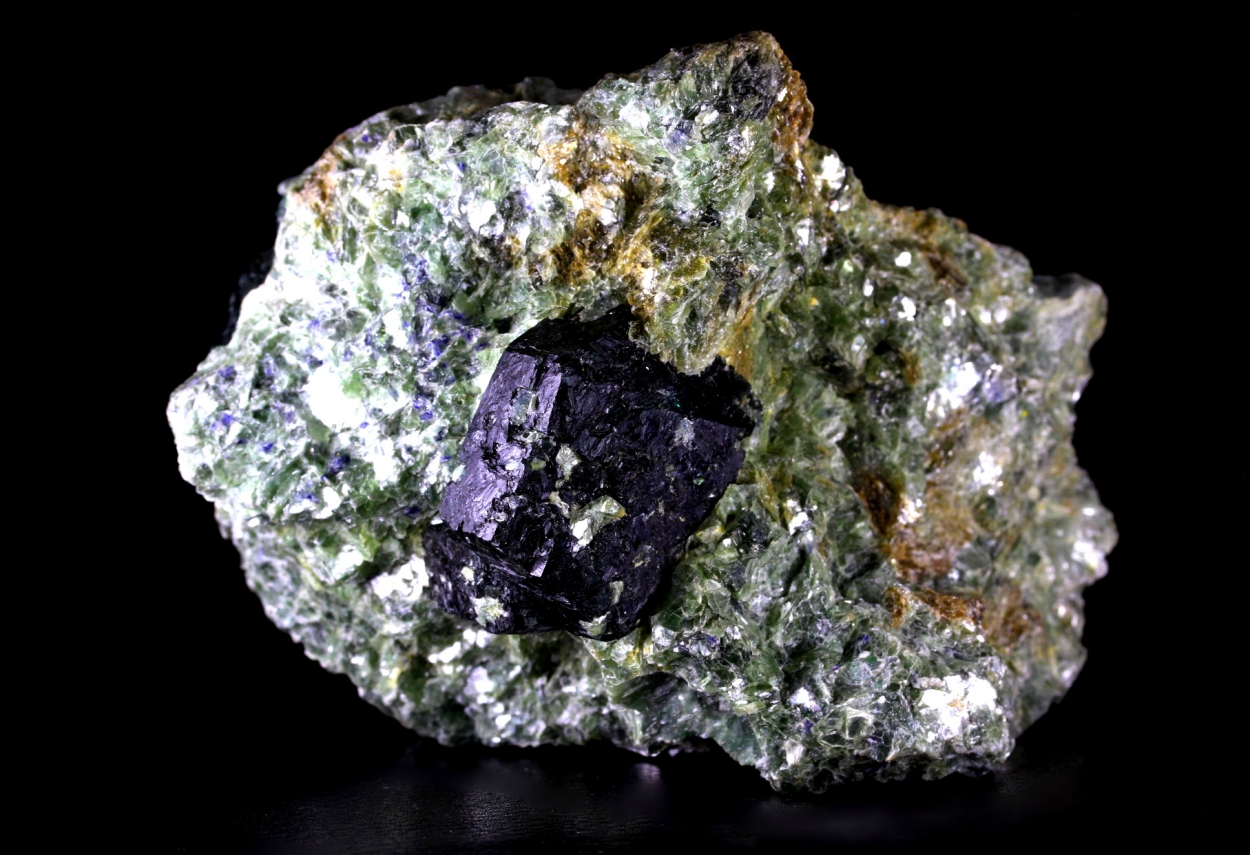 Dravite With Sapphire