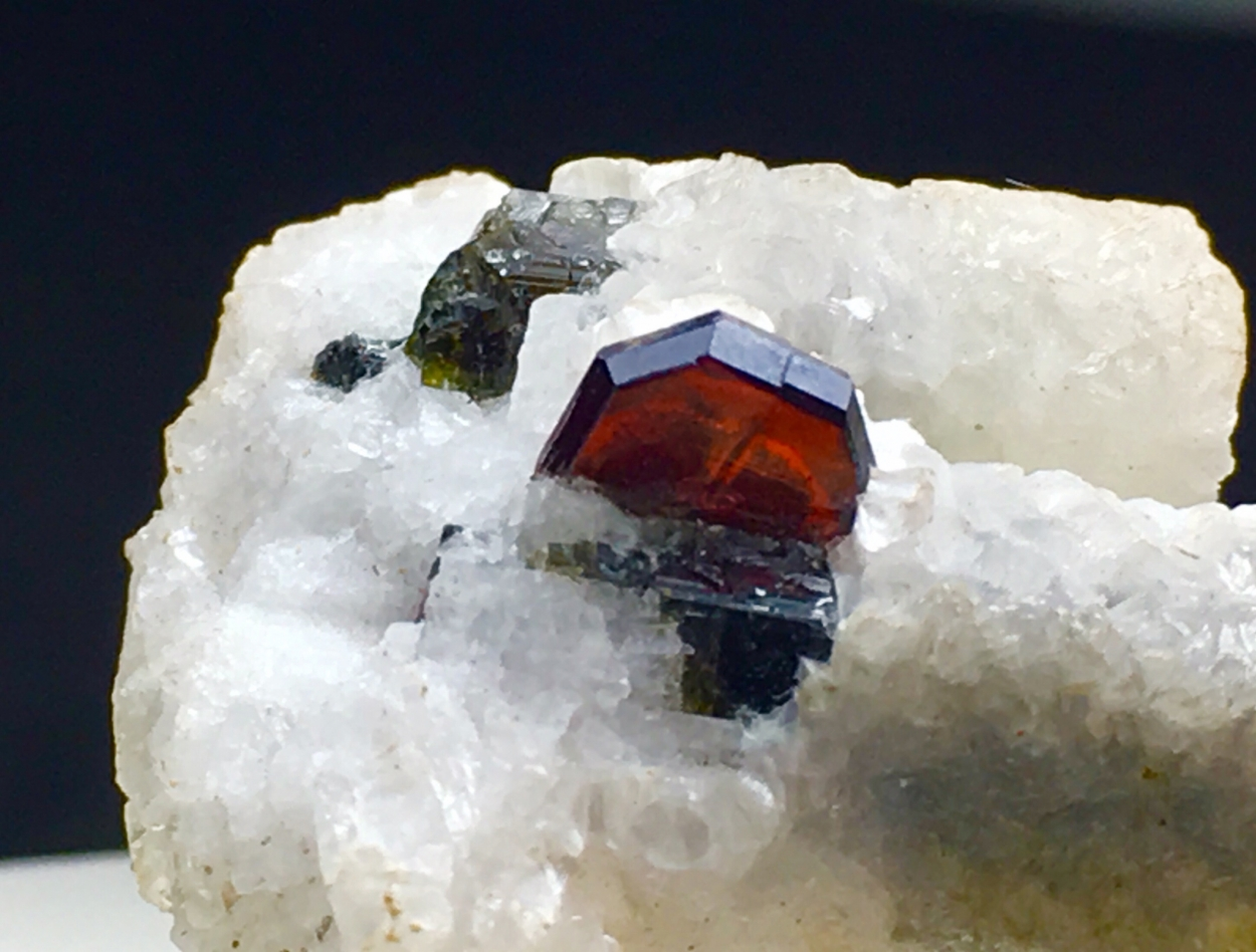 Tantalite-(Mn) With Tourmaline & Cleavelandite