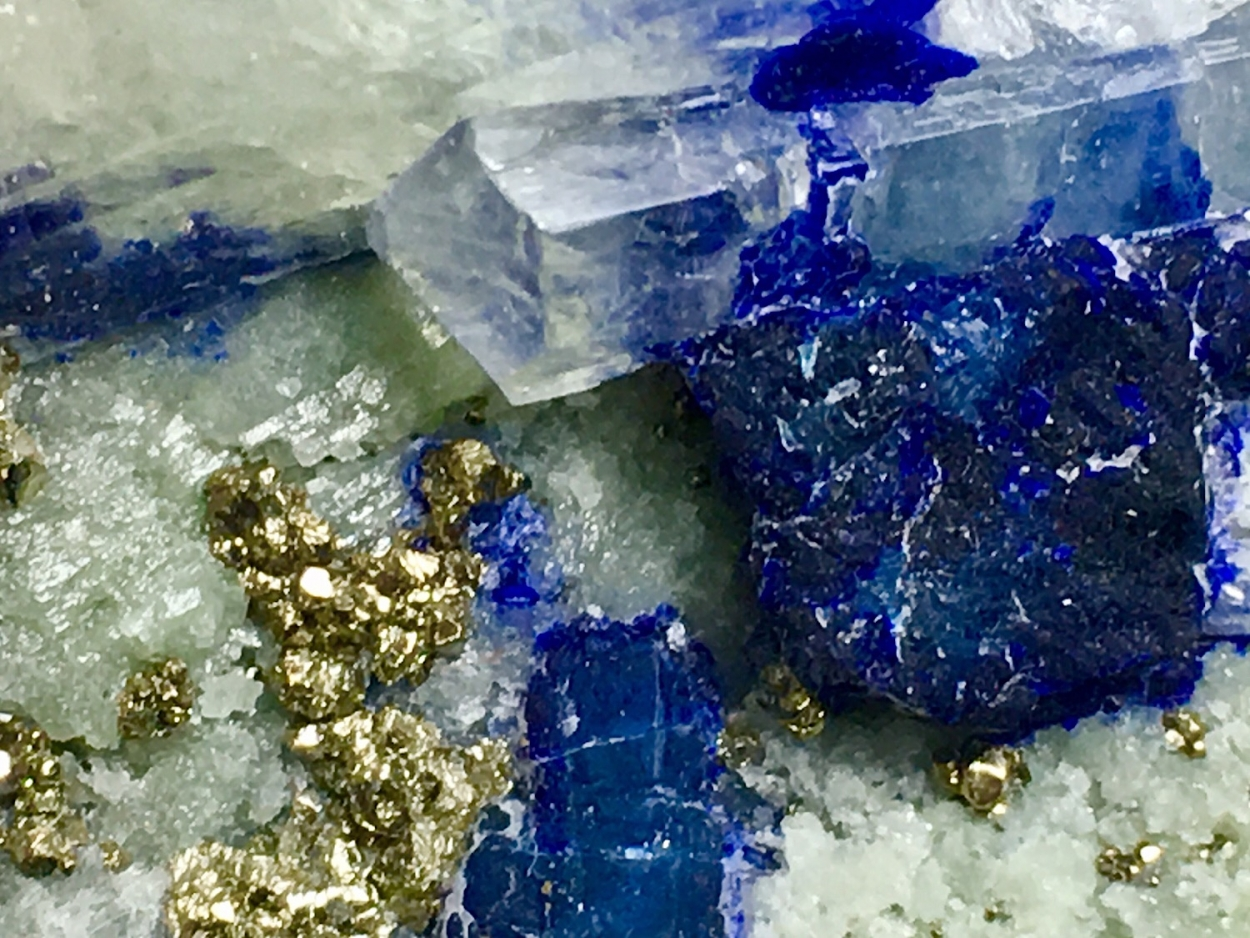 Marialite With Lapis Lazuli Inclusions