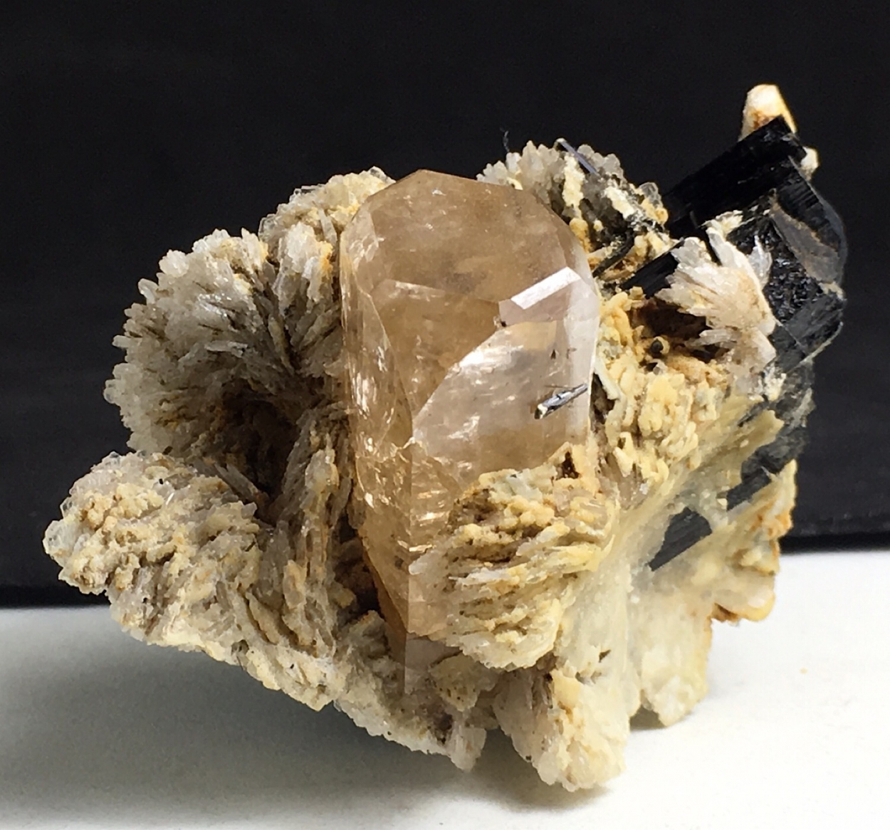 Topaz With Schorl & Cleavelandite