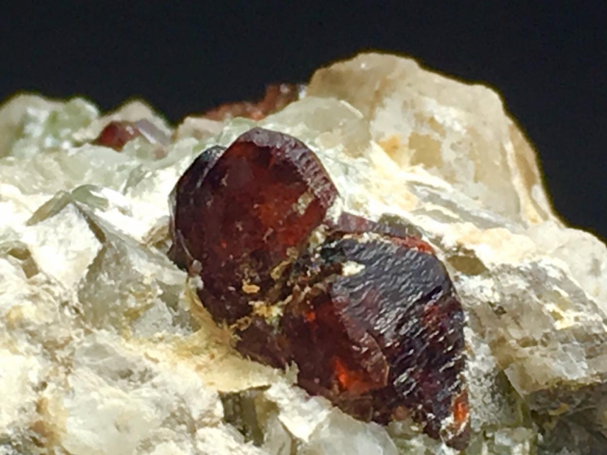 Hydroxylclinohumite With Dolomite & Clinochlore