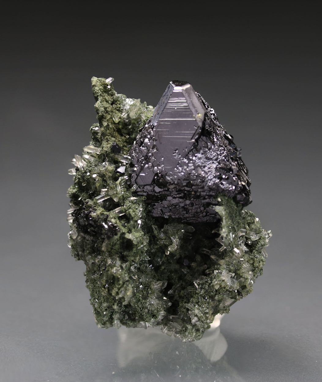 Sphalerite On Quartz With Chlorite