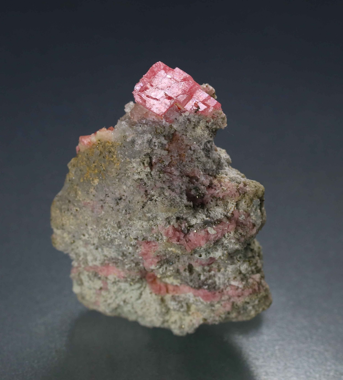 Rhodochrosite With Fluorite