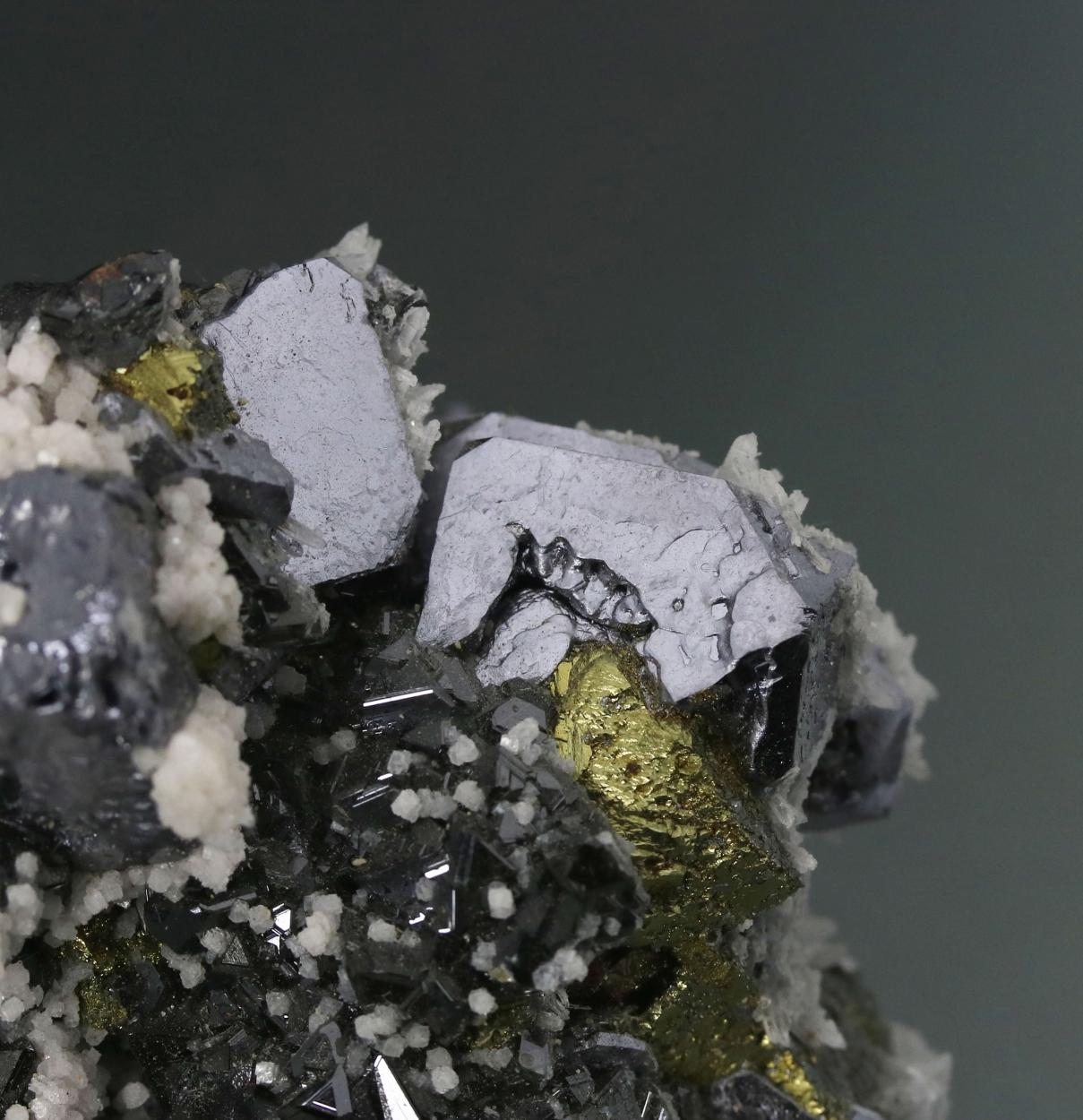 Galena Sphalerite & Chalcopyrite With Quartz
