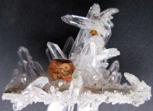 Rock Crystal With Limonite Psm Pyrite