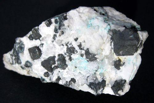Mercurian Tetrahedrite With Olivenite & Acanthite