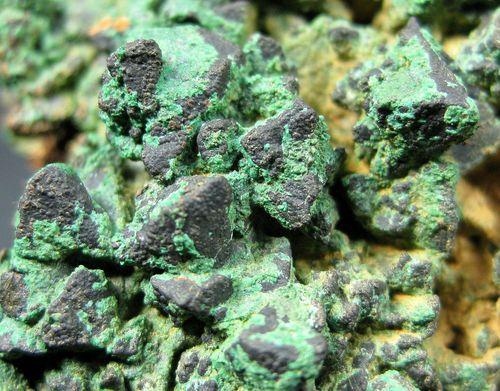 Chalcopyrite With Malachite