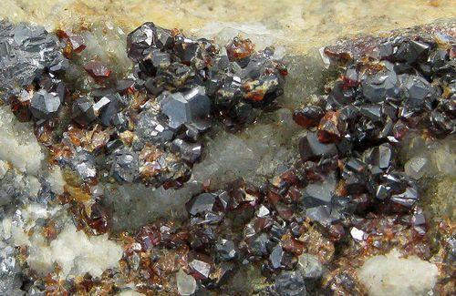 Galena & Sphalerite On Siderite