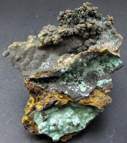 Tenorite & Malachite On Goethite