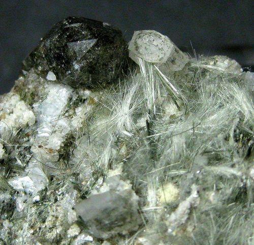 Byssolite With Smoky Quartz & Adularia