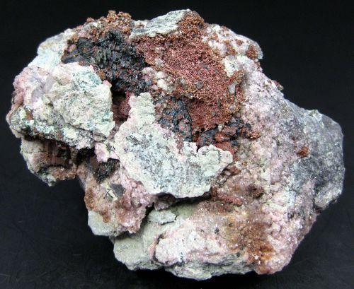 Cuprite & Native Copper With Cobaltoan Calcite