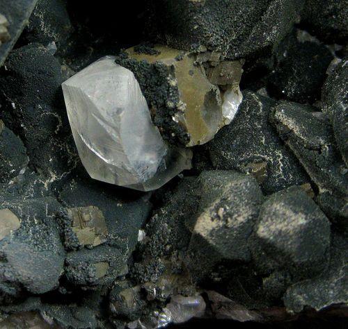 Julgoldite-(Fe2+) & Calcite